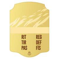 Carta FIFA personalizada oro